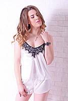 Элегантная пижама цвета айвори / Елегантна піжама кольору айворі