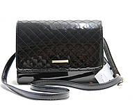 Женская лаковая сумка – клатч 8-73658445 Черный