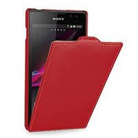 Кожаный чехол Tetded для Sony Xperia C C2305 красный, фото 1