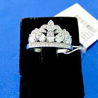 Розкішний жіночий срібний перстень