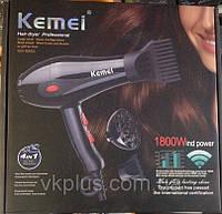 Профессиональный фен для волос Kemei KM 8860, 1800 W!Акция, фото 1