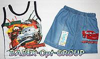 Майка+джинсовые шорты 1,2,3 года (полномерный)
