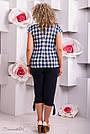 Женские летние брюки капри, размер от 48 до 62, чёрные, микромасло, фото 4