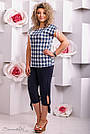 Женские летние брюки капри, размер от 48 до 62, чёрные, микромасло, фото 3