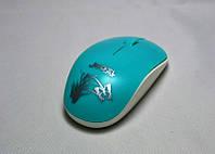 Мышь компьютерная беспроводная USB W100 (цвета в ассортименте)!Акция