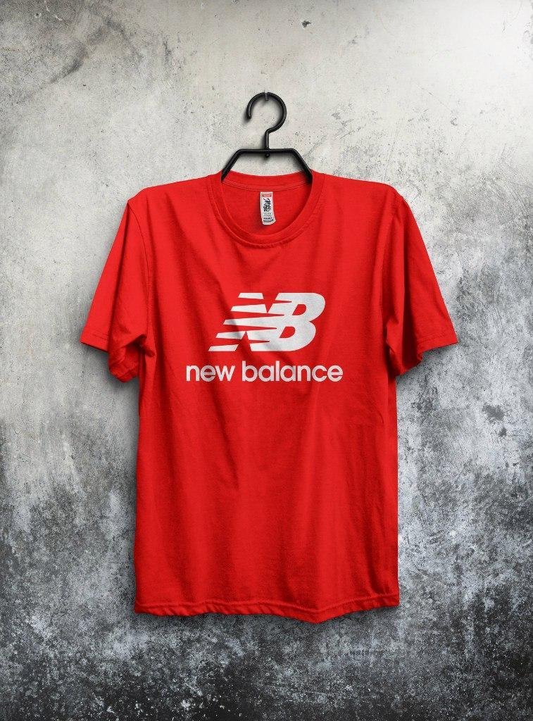 Мужская Футболка New Balance Красная (люкс Копия) — в Категории ... 480bd51bc2b