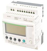 Программируемое логическое реле Zelio SR2B121BD, 8 DI (4AI), 4 DO,  24 VDC, дисплей, часы