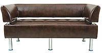 Диван Офис 156 см мадрас со спинкой и подлокотниками