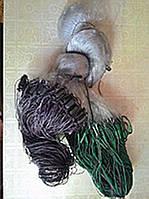 Сеть рыболовная 100м, одностенная, ячейка 25, с вшитыми грузиками, для промышленного лова