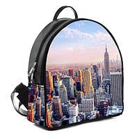 Городской женский рюкзак с принтом Мегаполис