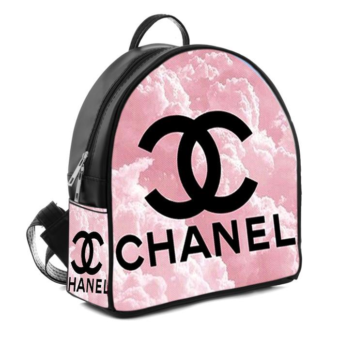 Городской женский рюкзак с принтом Chanel