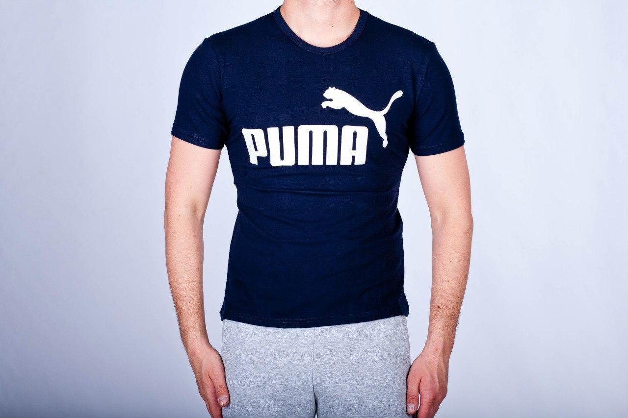 b057ab08894e Мужская Футболка Puma Темно Синяя (люкс Копия) — в Категории ...