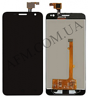 Дисплей (LCD) Alcatel 6012D Idol Mini/  6012X с сенсором черный + рамка