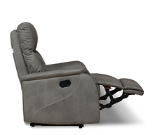 Шкіряний диван реклайнер Rio, диван реклайнер, м'який диван, меблі з шкіри, фото 2