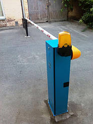Автоматический шлагбаум Came G3750  для проезда 4 метра. Стационарная опора под стрелу