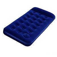 Надувной одноместный матрас Bestway 67223 синий со встроенным ножным насосом 185 х 76 х 22 см