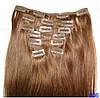 Набор натуральных волос на клипсах 52 см. Оттенок №6. Масса: 130 грамм.