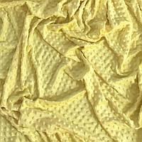 Плюш Minky лимонного цвета 300 г/м2 № м-64