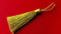 Кисти (мини) для  декора люрекс  6 см золото Турция