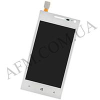 Дисплей (LCD) Huawei W1 с сенсором белый