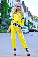 Костюм спортивный женский, желтый