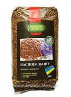 Лен органический, семена Украина, 300 г, ORGANIC COUNTRY