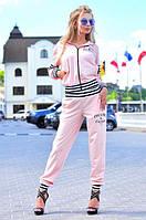 Костюм спортивный женский, розовый