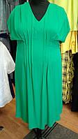 Платье миди зеленого цвета на резинке