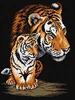 """Набор для рисования камнями (холст) """"Тигрица и тигренок"""" LasKo TT001"""