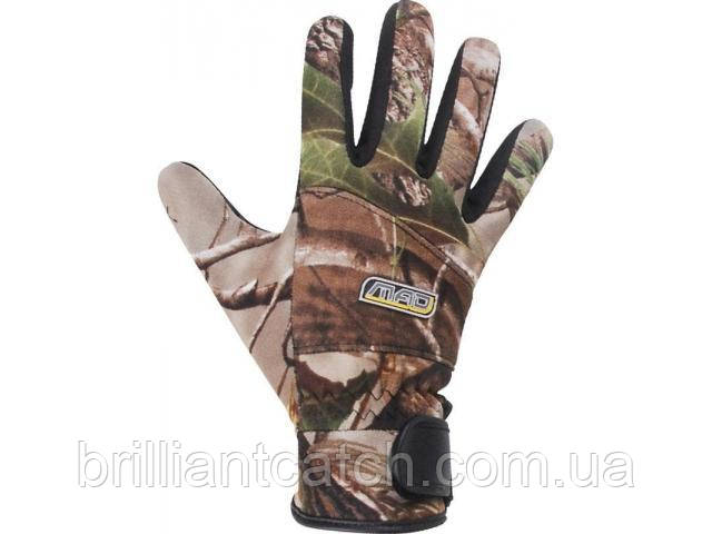 Рукавички DAM MAD D-Zent Neoprene Gloves L колір - camou(real tree)