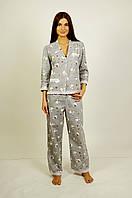 Пижама байковая женская с кружеввами!!! XS, S, M, L, фото 1
