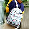 """Школьный рюкзак с пеналом """"Разноцветные треугольники"""", фото 4"""