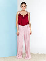 Женские широкие брюки-плаццо со стрелкми Rim