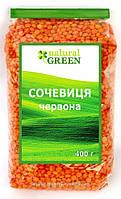 Чечевица красная, Natural Green, 400 г