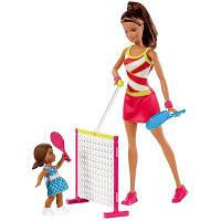 Набор игровой Барби тренер по теннису Barbie Tennis Coach Fashion Doll Brow