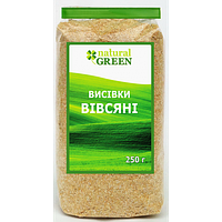 Натуральные отруби овсяные, Natural Green, 250 грамм
