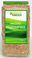 Натуральные отруби пшеничные, Natural Green, 200 г