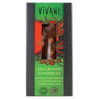 """Шоколад молочный органический с цельным фундуком """"Vivani"""""""