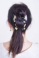 Заколка для волос African butterfly Beada 003 черная