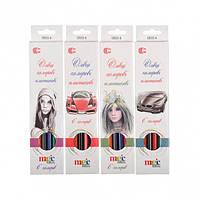 """От 12 шт. Карандаш 6 цветов CR555-6 White Night """"С"""" купить оптом в интернет магазине От 12 шт."""