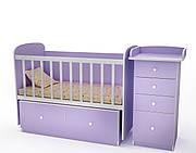 """Кроватка для новорожденных """"Кроха""""(есть маятник, без комода-пеленатора)"""