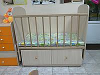 """Кроватка для новорожденных """"Кроха""""(без комода-пеленатора) Дуб молочный"""