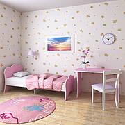 """Подростковая кровать """"Адель"""" 80 см*190 см (розовая)"""