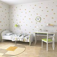 """Подростковая кровать """"Китти"""" 70см*140см (бело-лимонная)"""