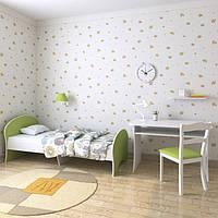"""Подростковая кровать """"Китти""""  70см*140см (лимонно-белая)"""