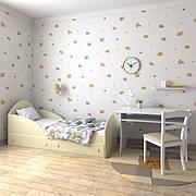 """Подростковая кровать """"Берта"""" 70см*140см (ваниль)"""