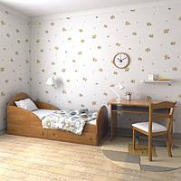 """Подростковая кровать """"Берта"""" 80см*190см (ольха горная темная)"""
