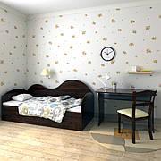 """Диван-кровать  """"Диана""""  70см*140см (орех лесной)"""
