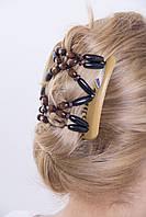 Заколка для волос  African butterfly Beada 007 бежевая