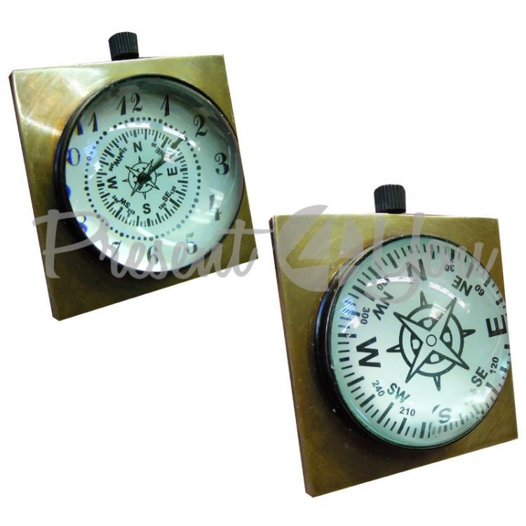 Морской сувенир часы, d-5 см., арт. 8529 Sea Club